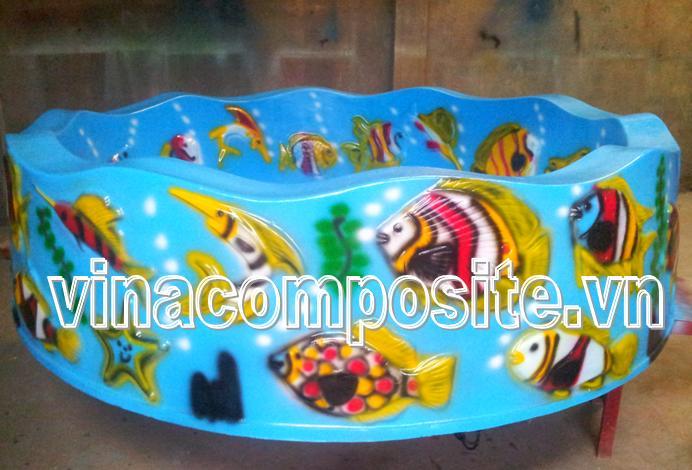 Hồ câu cá tròn ngoài khu vui chơi 1