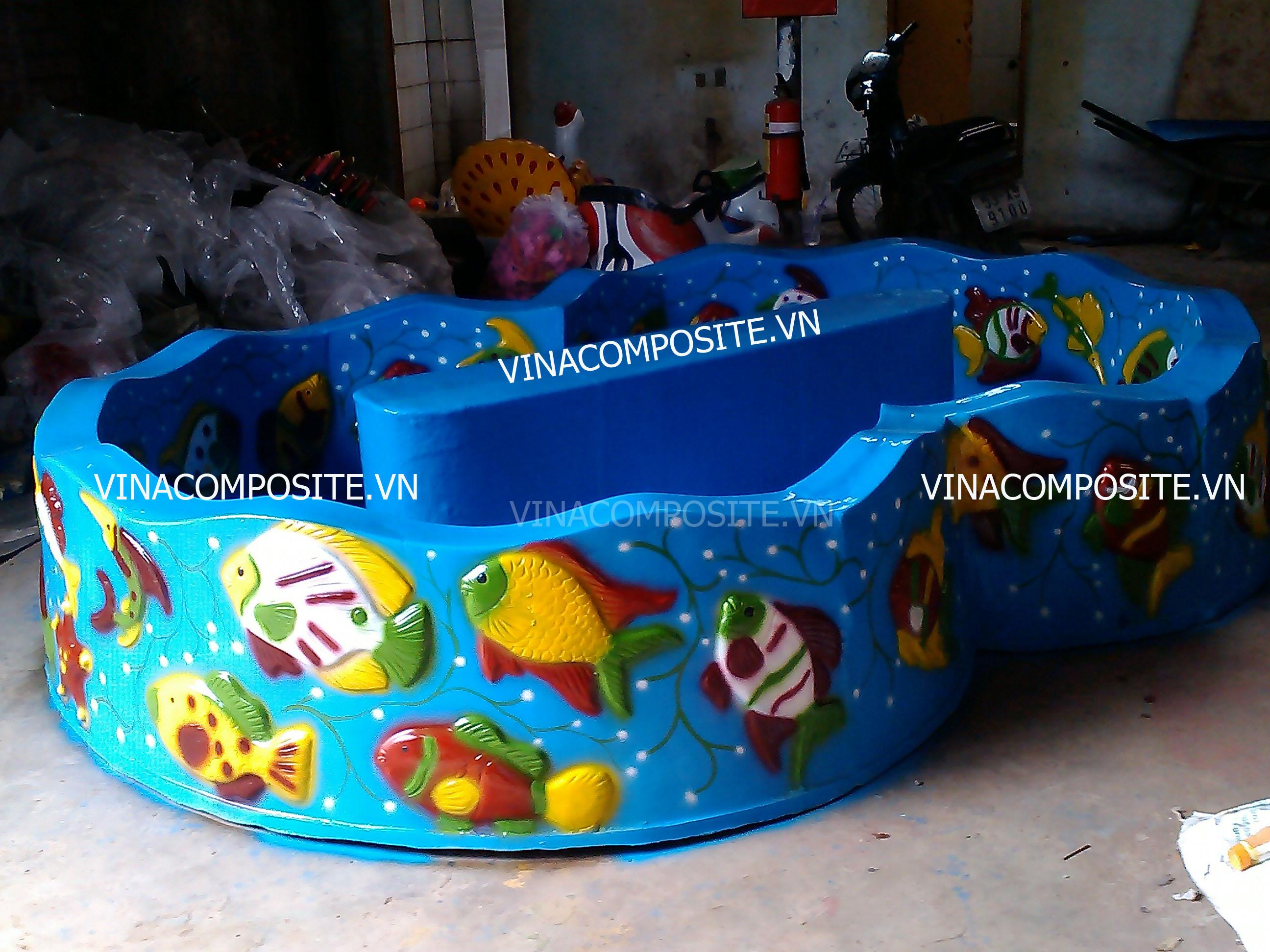 hồ câu cá nhựa trẻ em